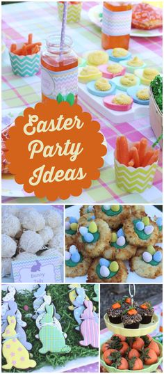 A large multi-family Easter egg hunt with a picnic lunch and a gorgeous dessert table! See more party planning ideas at CatchMyParty.com!