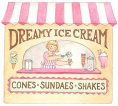 board walk - Anne Lisbeth Stavland - Picasa Web Albums Ice Cream Cart, Art Birthday, Illustrations, Summer Days, Clip Art, Walking, Calendar June, Archive, Board
