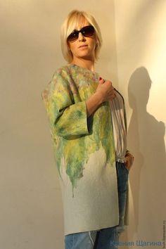 """Верхняя одежда ручной работы. Ярмарка Мастеров - ручная работа. Купить Пальто весенне-летнее """"Моне"""". Handmade. Комбинированный"""