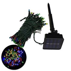 ZITRADES Waterproof 55FT 100LED 8 Modes Multi Color Solar Fairy String Lights for outdoor gardens homes Christmas party ** This is an Amazon Affiliate link. You can find more details by visiting the image link.