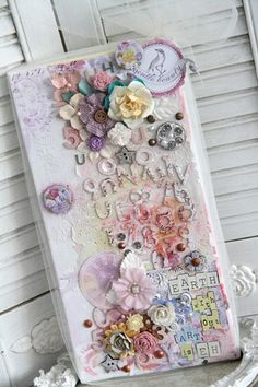 gorgeous Prima altered canvas altered-art