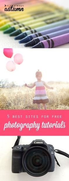 5 best sites for free online photography tutorials. I need to check these out and learn how to use my camera!