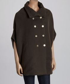 Another great find on #zulily! Olive Wool-Blend Poncho by Barrel Sportswear #zulilyfinds