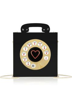CHARLOTTE OLYMPIA Chatterbox engraved Perspex clutch OMGosh this clutch reminds me of my childhood! The wonderful rotary phone!!!! #ashleniqapproved