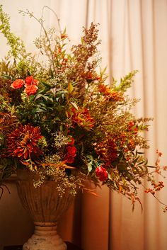Autumn Arrangement-Floral-Centerpiece www.tablescapesbydesign.com https://www.facebook.com/pages/Tablescapes-By-Design/129811416695