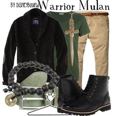 Warrior Mulan by leslieakay on Polyvore featuring Jennifer Fisher, American Eagle Outfitters, Dr. Scholl's, Scotch & Soda, Acne Studios and Disney