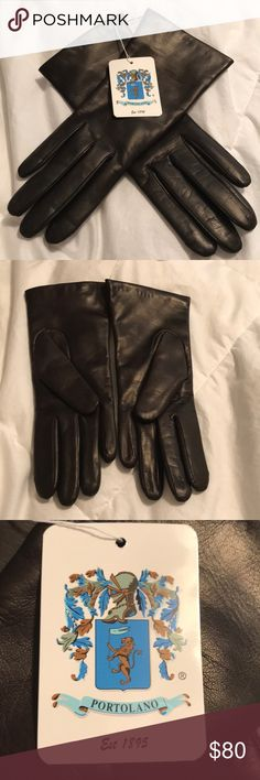 FINAL PRICE PORTOLANO LEATHERCASHMERE LINED GLOVES New with tags, gorgeous chocolate brown leather. Butter soft! Has the softest cashmere lining! Portolano Accessories Gloves & Mittens