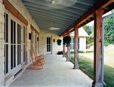 texas limestone front porch house