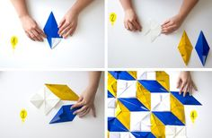DIY – LE PHOTOBOOTH DES DO IT YVETTE Origami Quilt, Origami Paper Art, Diy Origami, Home Crafts, Fun Crafts, Paper Crafts, 3d Cards, Pop Up Cards, Isometric Cube