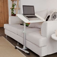 FBT07N2 Bed Table for Laptop with Height-Adjustable Stand