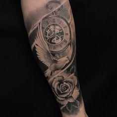 Popular Wrist Tattoo Models in 2019 - Tattoos For Men: Best Men Tattoo Models Daddy Tattoos, Dove Tattoos, Family Tattoos, Arm Tattoos Forearm, Forarm Tattoos, Wrist Tattoo, Tatoos, Tattoo Sleeve Designs, Tattoo Designs Men
