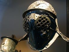 This Thracian style helmet was recovered from the dwelling of a gladiator in Pompeii.
