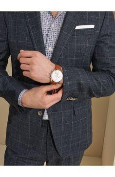 681a23daca5 BOSS Grand Prix Leather Strap Chronograph Watch