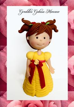 pequeña bella princesa  porcelana fria polymer clay