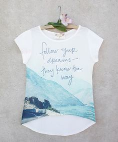 Loving this Blue & White 'Follow Your Dreams' Tee - Toddler & Girls on…