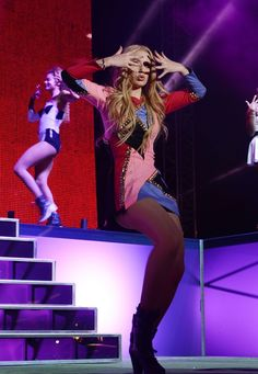 And vogue. Iggy Azalea strikes a pose onstage at Victoria's Secret Pink Nation Crazy For Campus Bash on Oct. 29 in Las Vegas
