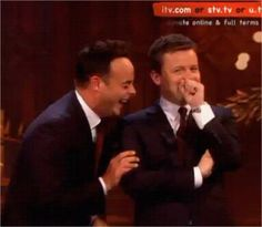 ant and dec getting the giggles again