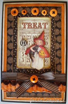 Crafty Secrets Heartwarming Vintage Ideas and Tips: Winner, Thinking of You to Christmas Samples and More! Halloween Paper Crafts, Halloween Tags, Holidays Halloween, Vintage Halloween, Halloween Decorations, Halloween Ideas, Halloween Designs, Halloween Banner, Halloween Witches