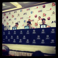 Jonas Brothers at press conference in Vina Del Mar, Chile. February 26, 2013. #JB2013 Photo by chechofotografo