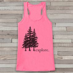 The perfect shirt for all the adventure enthusiasts in your life! Get one for your friend or even for yourself! Tank is a soft poly blend with a flattering draped silhouette, round neck and racerback.