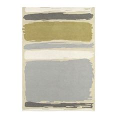 Abstract Linden Silver Rug by Sanderson - Linden - X - Rug : Wallpaper Direct Wallpaper Online, Modern Rugs, Modern Coastal, Rugs In Living Room, Living Area, Home Accessories, Area Rugs, Contemporary, Wool Rug