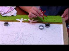 Pintura em tecido: Galinha d' Angola Country P-2 - YouTube