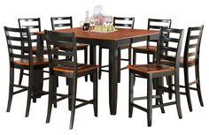 Parfait 7 Piece Counter Height Dining Set