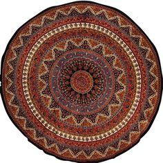 Elephant Mandala Circle Tapestry