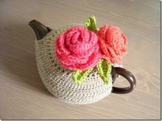 """Link to free pattern for this beautiful """"Tea Cozy""""!"""