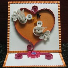 Quilling - Valentines Card