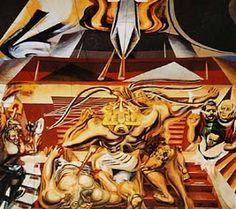 "MURAL DE SIQUEIROS ""MUERTE AL INVASOR"" en la Escuela México de Chillán Chile, David, Book, Painting, Art, Pintura, Death, Murals, Warriors"
