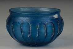 Ribbed Bowl, Roman, Roman Imperial period, second half of the 1st century BCE-first half of the 1st century CE, Harvard Art Museums/Arthur M. Sackler Museum.