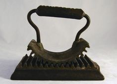 Antique Cast Iron Crimping Rocking Iron Geneva, IL. Hand Fluter For Pleating and Crimping Material