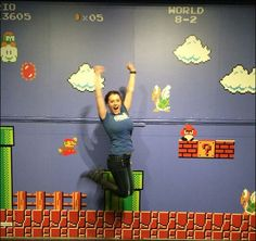 Mario Bros wall