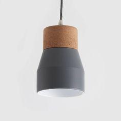 Grey And Cork Pendant Light