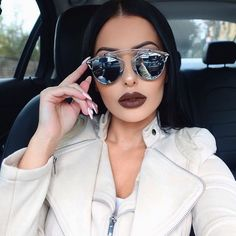 """""""Shades from @eyechic_philly  #Dior Lips are @lipkitbykylie """"True Brown K"""" """""""