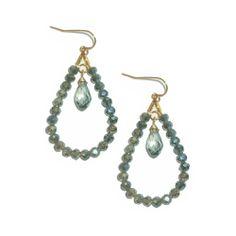 Sparkle and shine with the NEW @Sophia & Chloe Glitz Teardrop Hoop Earrings! Available at www.sophiaandchloe.com $104