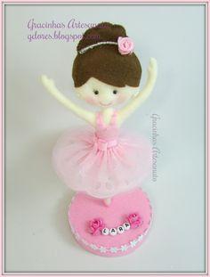 Felt ballerina handmade by Gracinhas Artesanato