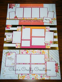 CTMH Happy Times layouts by Char's Crafty Creations. Slight variation of Tina…