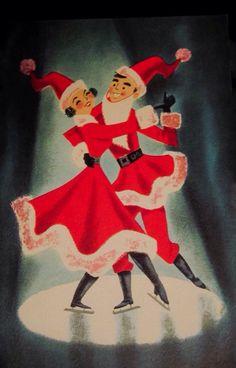 Christmas Claus pair.