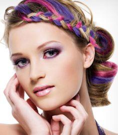 Hair Chalking Ideas for Girls