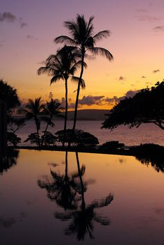 I took this shot of a sunset while we were on Maui at the Marriott Wailea. The colors were exactly like this--no messing around on the computer! It was gorgeous!