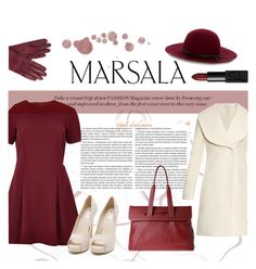 """Color of the year: marsala"" by dudubags ❤ liked on Polyvore featuring River Island, J.W. Anderson, Nly Shoes, Warehouse, John Lewis and NARS Cosmetics"
