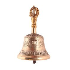 BuyRudraksha Unique Brass Meditation Om Bell with All Over Fine Carving Work -- You can get more details by clicking on the image.