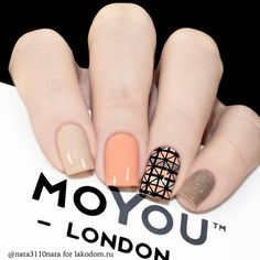 Manicure with Geometric Style, trends in nails for 2018 - geometric style nails with the best Love Nails, How To Do Nails, Gorgeous Nails, Fun Nails, Trendy Nail Art, Stylish Nails, Modern Nails, Manicure E Pedicure, Artificial Nails