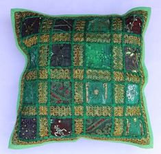 indian Handmade Patchwork cotton Cushion Cover Home Decor Pillow Cases KH101 #Handmade #Ethnic