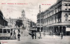 Wellesley Street, Auckland, N.Z. in about 1905. Postcard by Muir & Moodie, Dunedin, N.Z. ~ Series of Views 544 P.