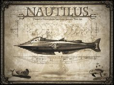 20 000 leagues under the sea nautilus Jules Verne, Nautilus Submarine, Retro, Etiquette Vintage, Ile Saint Louis, Leagues Under The Sea, Wale, Steampunk Design, Sea Art