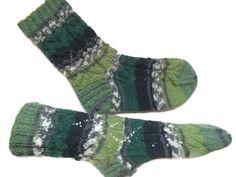 Knit casual socks green socks Unique Art socks Athletic