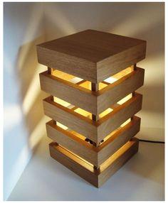 Wooden Lamp, Wooden Diy, Diy Wood Projects, Woodworking Projects, Woodworking Plans, Easy Projects, Woodworking Shop, Bois Diy, Diy Holz